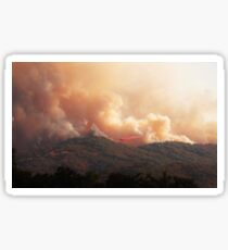 Black Bart Wildfire near Lake Mendocino California Sticker