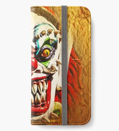 Das Gesicht des Bösen iPhone Flip-Case