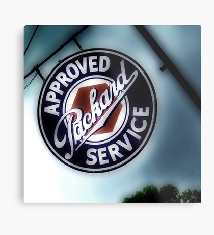 packard service, route 66, afton, oklahoma Metal Print