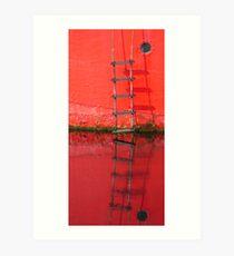 Red ladder Ballydorn Art Print