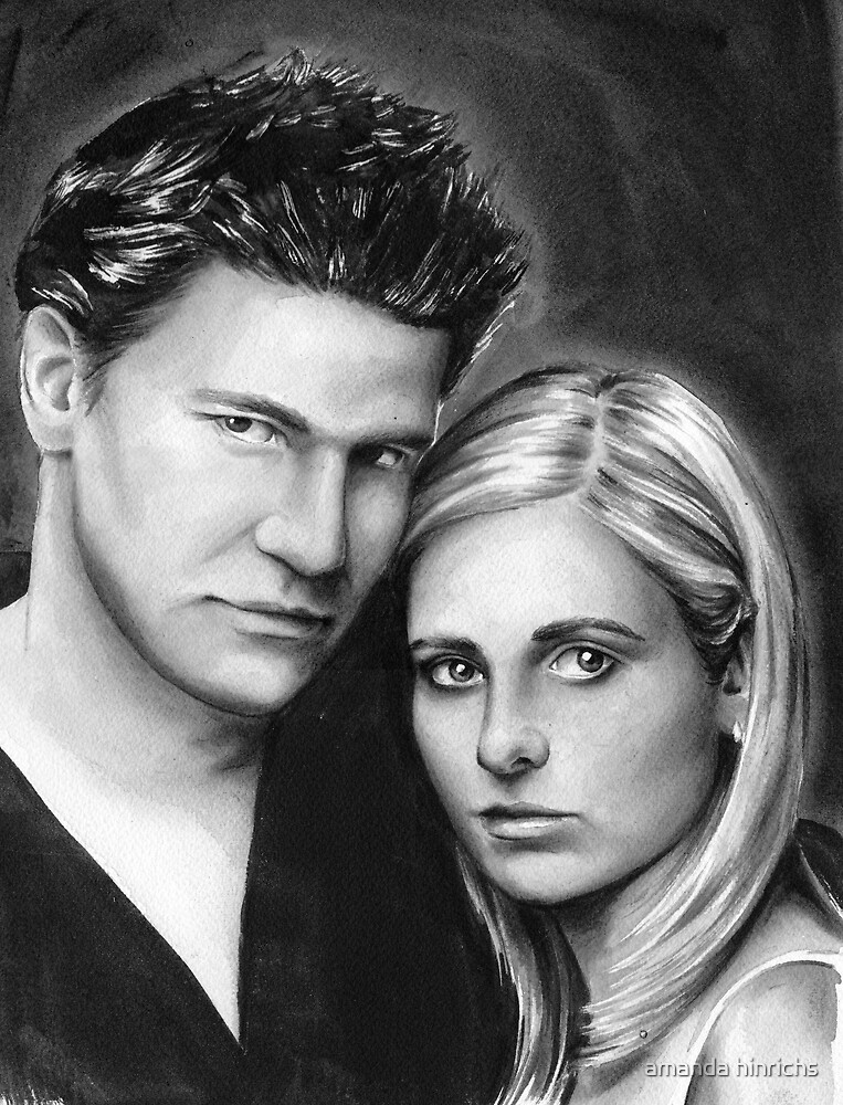buffy and angel by amanda hinrichs