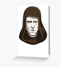 Walken on the Dark Side - Christopher Walken Greeting Card