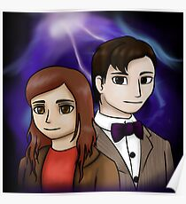 11th Doctor and Amy Pond Poster