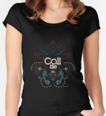 Iitty,Bitty Call Me xx Women's Fitted Scoop T-Shirt
