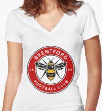Brentford Football Club Women's Fitted V-Neck T-Shirt