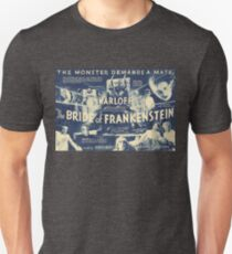 Bride of Frankenstein - vintage horror movie poster Unisex T-Shirt
