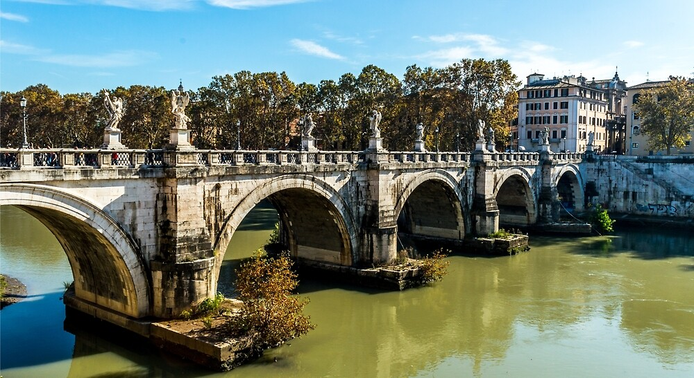 Ponte Sant Angelo Rome by Mike Cave
