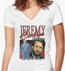 JEREMY CORBYN LABOUR VINTAGE Tee Women's Fitted V-Neck T-Shirt