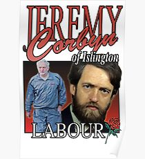 JEREMY CORBYN LABOUR VINTAGE Tee Poster