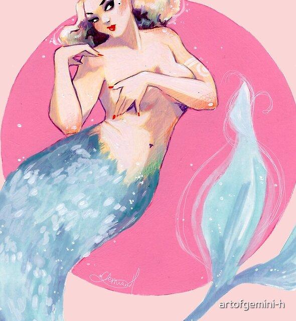 Blue Mermaid by artofgemini-h