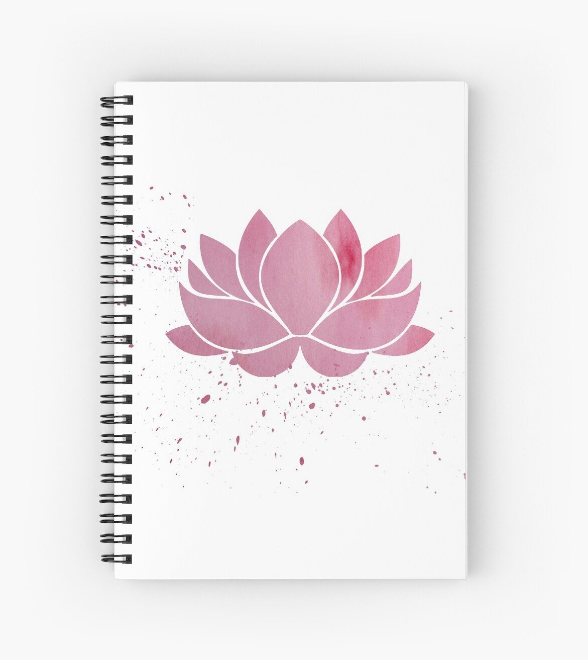 Pink Buddhist Lotus Flower Spiral Notebooks By Whoiusedtobe Redbubble