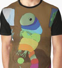 Knitting Lizard Graphic T-Shirt
