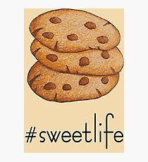 Cookies; Chocolate lovers; Chocolate chip cookies; Cookie lovers; Sweet life; Love these cookies Photographic Print