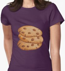 Cookies; Chocolate lovers; Chocolate chip cookies; Cookie lovers; Sweet life; Love these cookies Womens Fitted T-Shirt