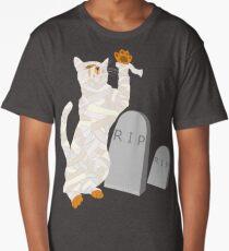 Giant Mummy Cat Monster Cute Horror Cartoon Long T-Shirt