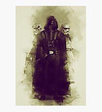 Star wars - darth vader & stormtrooper Photographic Print