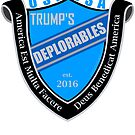 Trump's Deplorables Family Crest Blue Gray And Latin by theartofvikki