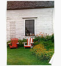 Chairs New Brunswick Canada Poster