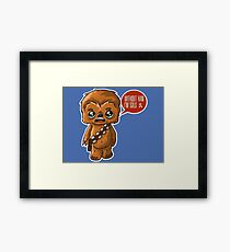Chewbacca Without Han Framed Print