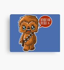 Chewbacca Without Han Canvas Print