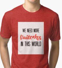 JIMMY BUFFETT -FRUITCAKES Tri-blend T-Shirt