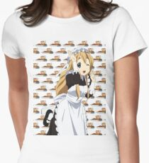 K-On! Mugi with a lot of cakes! Womens Fitted T-Shirt