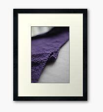 Purple knitted fabric Framed Print