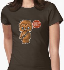 Chewbacca Without Han Womens Fitted T-Shirt