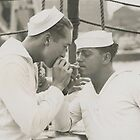 2 sailors smoking  by planete-livres