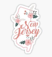 New Jersey Floral State Sticker