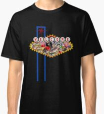 Gamblers Delight - Las Vegas Icons Background Classic T-Shirt