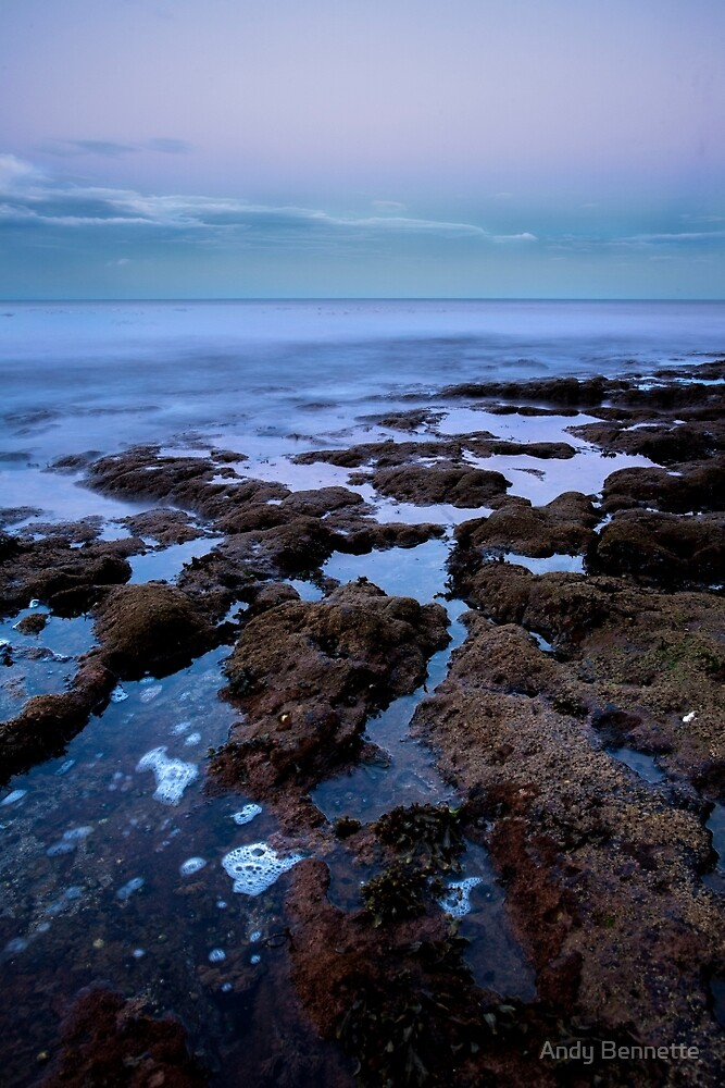 Ladram Bay Dusk by Andy Bennette