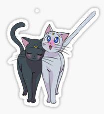 Luna and Artemis Sticker