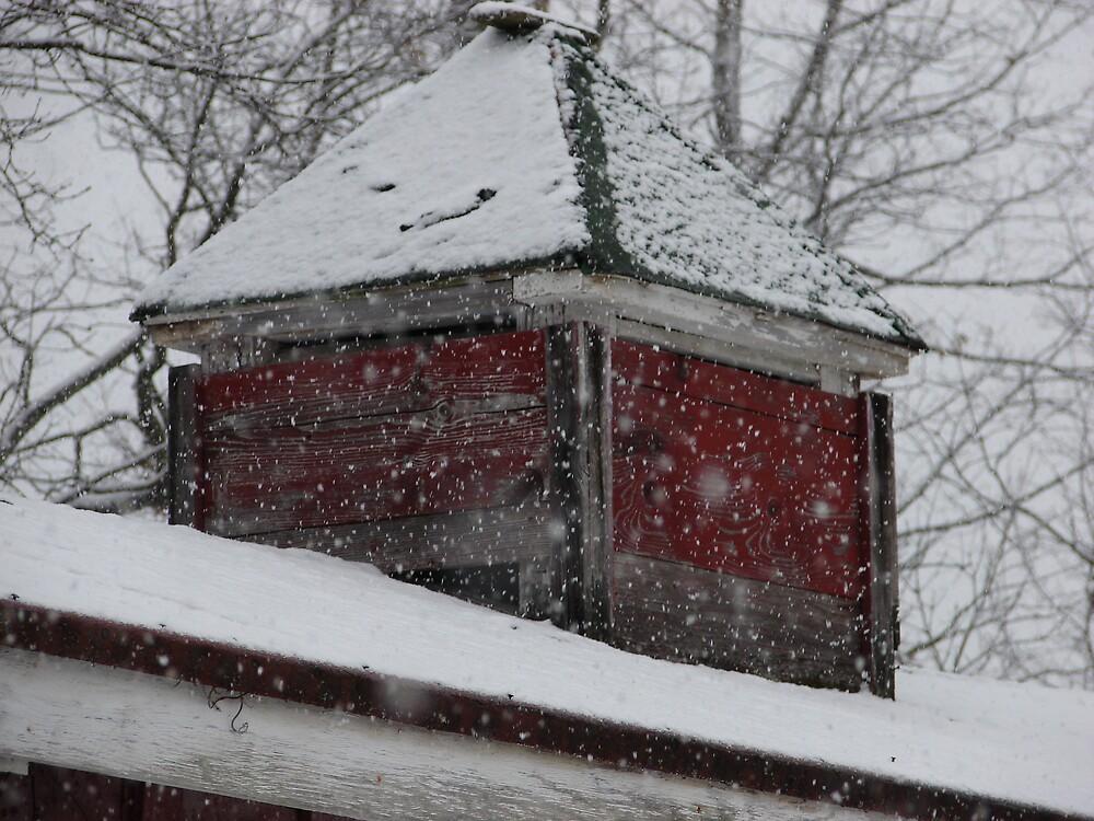 Snow Barn by tracywebb