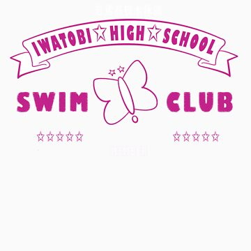 Free! Iwatobi Swim Club Shirt (Rei, Member) pink by renotology