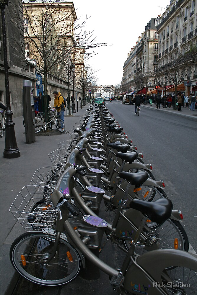 Not quite nine million bicycles in Paris but there's a lot by Nick Sladden