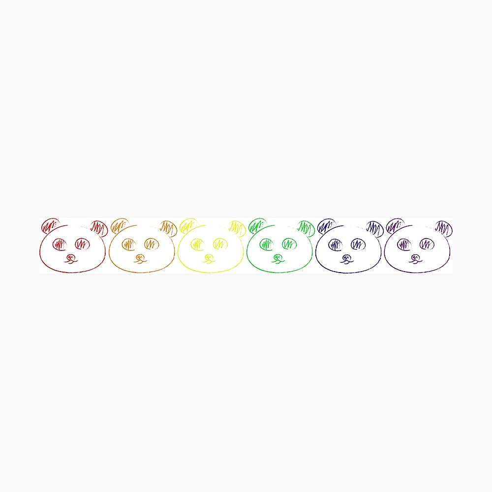 Panda Regenbogen Fotodruck