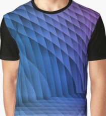 Geometric Path Blue-Pink Graphic T-Shirt