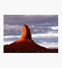 East Mitten Butte at Sunset Photographic Print