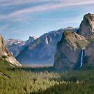 Yosemite Falls Califorina by Walter Colvin