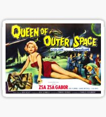 Queen of Outer Space - vintage  sci-fi movie poster Sticker