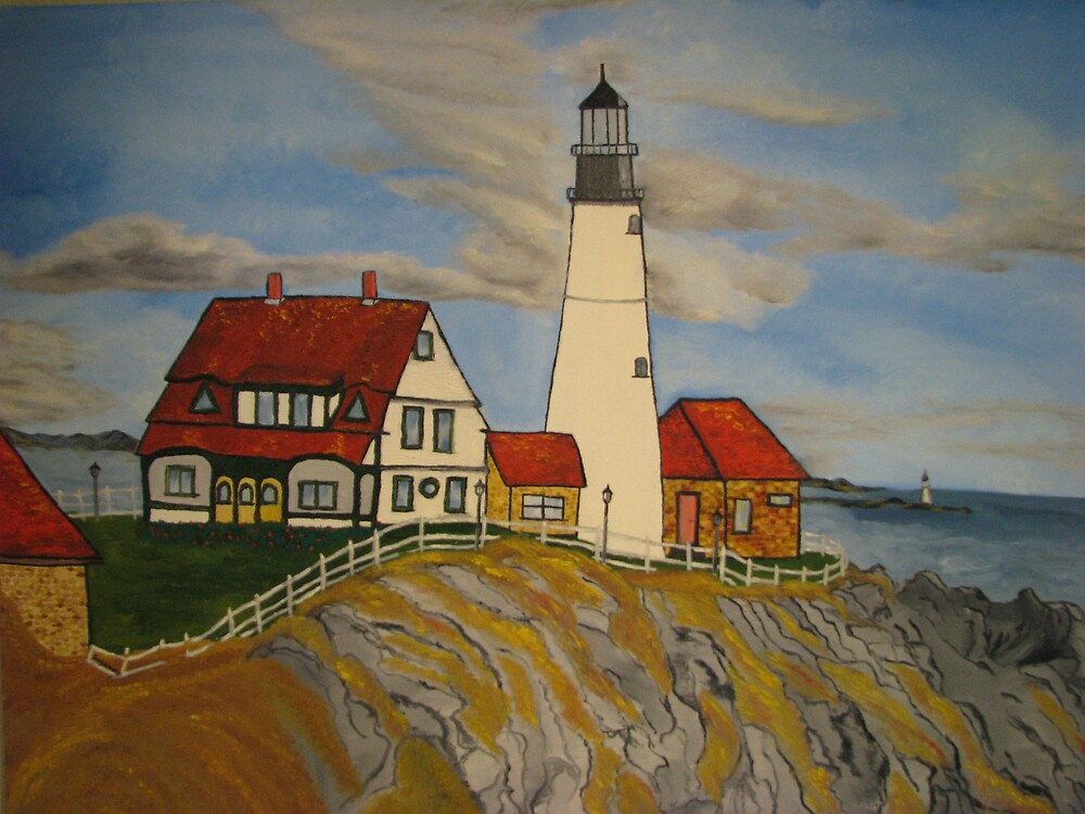 Portland Headlight by Suzanne Buckland