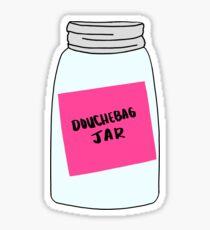 New Girl Douchebag Jar Sticker