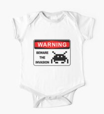 BEWARE OF INVASION, WARNING SIGN One Piece - Short Sleeve