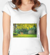 Autumn at Canterbury Botanical Gardens Women's Fitted Scoop T-Shirt
