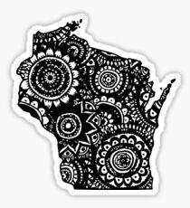 Wisconsin Outline Doodle Sticker
