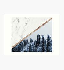 Cool marble desert blooms Art Print