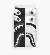 Black White - Bape Shark Duvet Cover