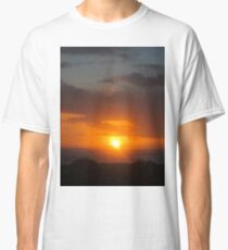 Orange Sunset at Beach -v Classic T-Shirt