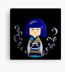 Blue Kimi Doll Canvas Print